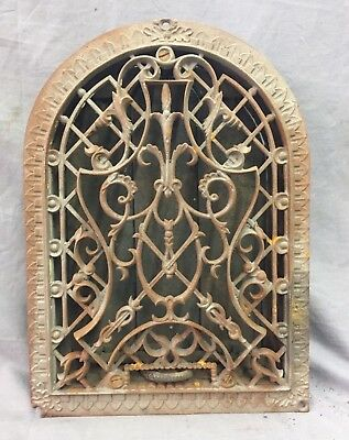 Antique Cast Iron Arch Decorative Heat Grate Wall Register 9X12 Dome Vtg 26-19C