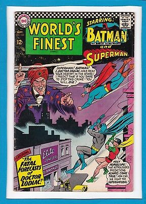 World's Finest #160_Sept 1966_Fine+_Superman_Batman_Silver Age Dc!