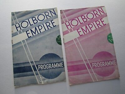 Holborn Empire 1938 x 2 - Arthur Tracy Caryll & Mundy Sarony & Holmes Ray Noble