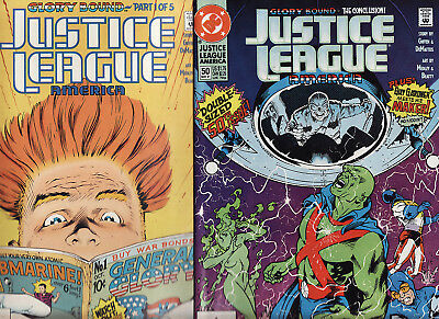 DC COMICS 1991 JUSTICE LEAGUE AMERICA ISSUES 46 to 50
