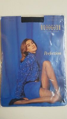 2091f50e6 WOLFORD PERFECTION vintage TIGHTS size M medium in NAVY dark blue sheer 15  den