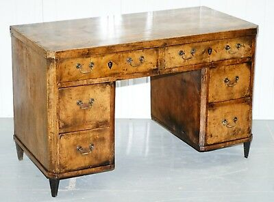 Original Circa 1840 Antique Walnut Country Desk Stunning Timber Patina Must See