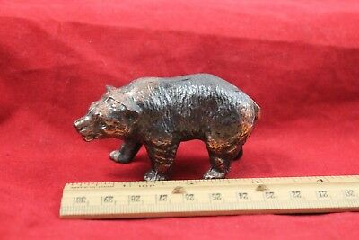 "Vintage 3"" Cast Metal Blecher Usa Grizzly Bear"