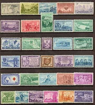 U.s. 1951 Through 1953 -- 3 Years Of Commemorative Stamp Year Sets **mnh**