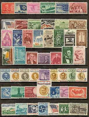 U.s. 1957 Through 1959 -- 3 Years Of Commemorative Stamp Year Sets **mnh**