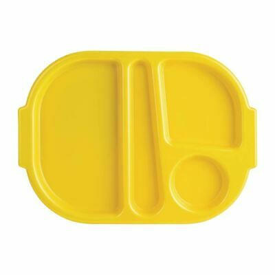 Kristallon Food Compartment Trays Made of Polycarbonate in Yellow - Pack of 10