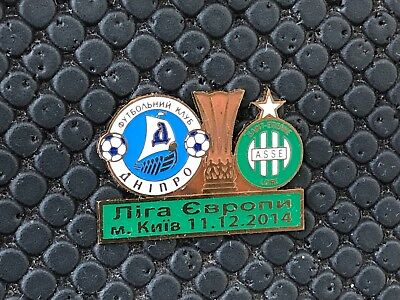 Pins Badge Football Asse Saint Etienne Vs Dnipro Europa League 2014