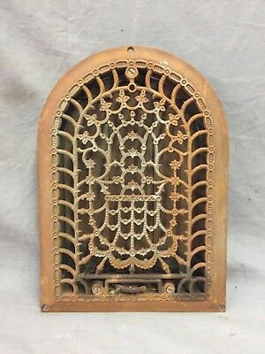 Antique Cast Iron Arch Decorative Heat Grate Register Stars 8X12 Dome Vtg 28-19C