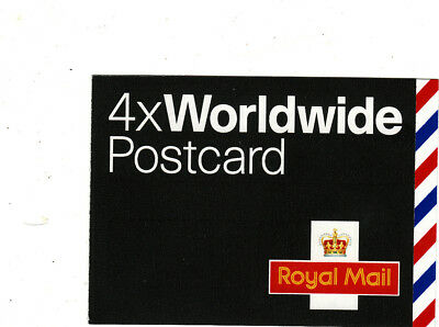 Gb Booklets Unused - 2004 4 X Worldwide Postcard Grey Black Cover Mja1