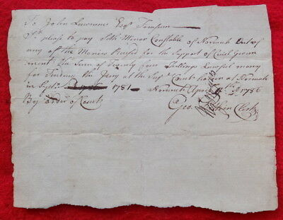 1786 Connecticut Supreme Court Document Signed By Revolutionary War Colonel