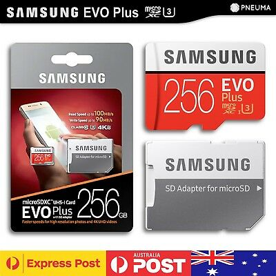 SAMSUNG EVO Plus 256GB Phone Micro SDXC Card & Laptop Memory Adapter - Class 10