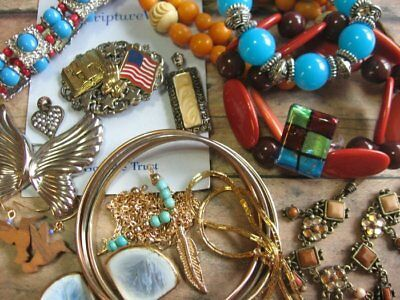 Vintage Now Fashion Costume Jewelry Lot No Junk Wear Resell 15 Pc. Assorted