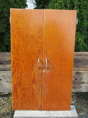 Vintage Cabinet Doors - Pair for Camp, Cabin, Cottage 1950's Cabinet, 40 x 12