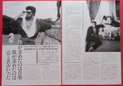 Wham! George Michael Andrew Ridgeley 1986 Clipping Japan Magazine K3 B12 2Page