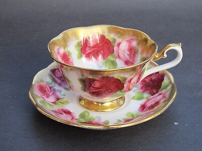 Outstanding Royal Albert Treasure Chest Series Old English Roses Cup and Saucer