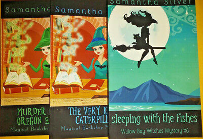 Samantha Silver - 3 Books - Magical Bookshop Mystery & Willow Bay Witches (New)