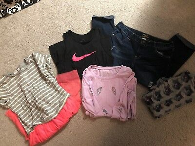 MIXED LOT OF 5 Girls Clothes Jeans, Tops, Dress, Legging GAP JUSTICE Large 12 XL