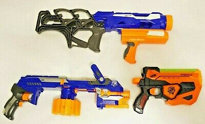 LOT of 3 Nerf Blasters includes Thunderblast, N-Strike Elite Hail-Fire, Fusefire