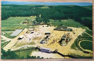 1961 Postcard Frontier Town Ocean City MD Aerial view FREE SHIPPING