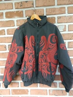 Rare Vintage Nytom Makah Northwest Native American Tribal Totem Jacket Medium