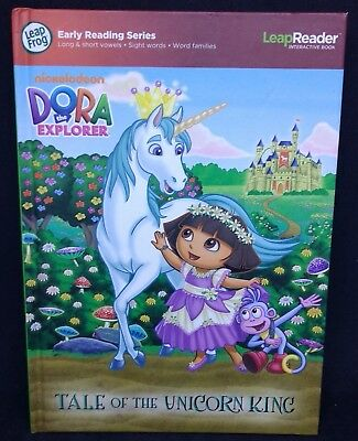 Leap Frog Leap Reader Dora the Explorer Tale of the Unicorn King Tag Book Reader