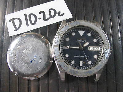 Vintage SEIKO DIVER 7S26-0050 Automatic  Parts Watch RUN AsIs