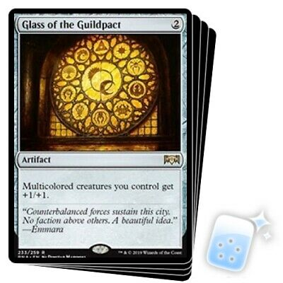 GLASS OF THE GUILDPACT X4 Ravnica Allegiance RNA Magic MTG MINT CARD