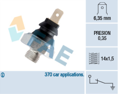Oil Pressure Sensor Switch 11 for OPEL KADETT E liftback 1.3 N MANTA B S 1.6 1.9