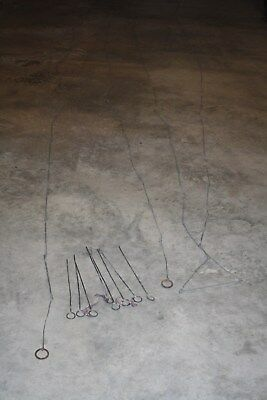100 ft. VINTAGE SURVEY CHAIN NO BREAKS 8 PINS STAKES