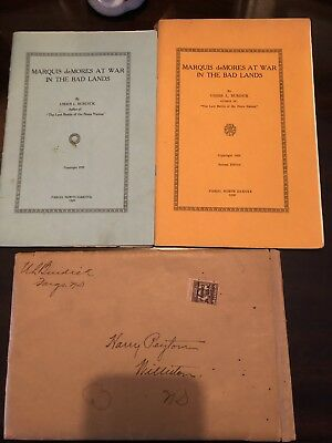 ND Rep. Usher L. Burdick Autographed Envelope With Editions Of Writings