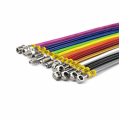 FRONT HEL Performance Braided Brake Lines Hoses For Ford Orion 1.4 (1990)