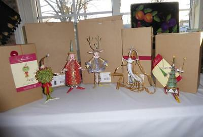 5 Dept 56 Patience Brewster Christmas Tree Ornaments  In Box