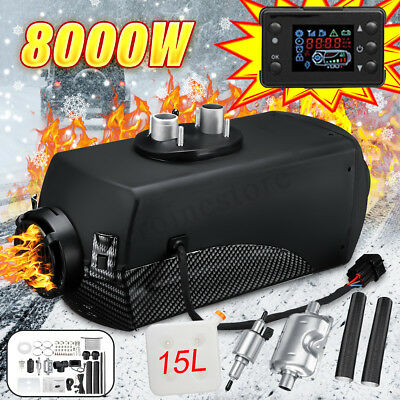 8KW Diesel Air Heater +15L Tank With LCD Silencer For Truck Boat Car Parking