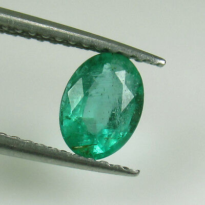 "0.74 Ct - Natural Emerald - Zambia - Oval Cut - ""vs-2"" - Amazing Luster Green"