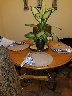 "ETHAN ALLEN Maison Collection 64"" Dining Table and 4 Chairs - Local Pick Up"