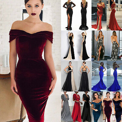 Women Maxi Dress Formal Cocktail Prom Evening Party Bridesmaid Pageant Ball Gown