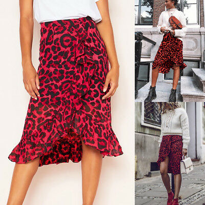 Image result for animal print midi dresses red