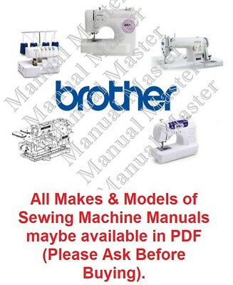 BROTHER Sewing Machine Instruction Manual / Parts Lists / Service Manual in PDF