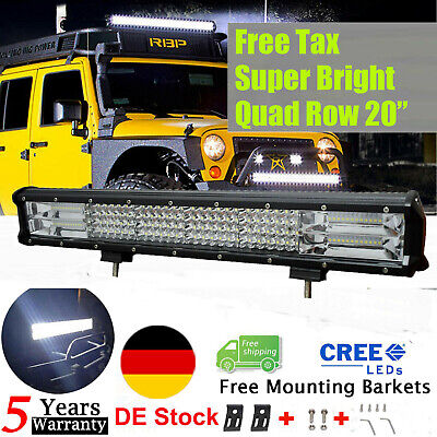 42inch 240W Curved LED Work Light Bar Spot Flood Combo Driving Lamp SUV Truck