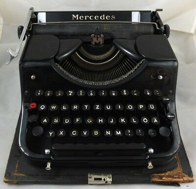 Antik Reise Schreibmaschine Mercedes antique type writer