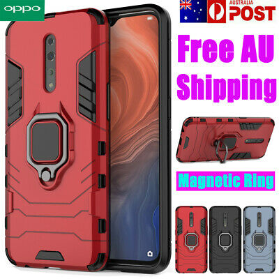 For OPPO R17 Pro Heavy Duty Shockproof Case Ring Holder Stand Tough Hard Cover