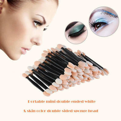100pcs Disposable Dual Sides Eye Shadow Sponge Applicator Makeup Brush DBT