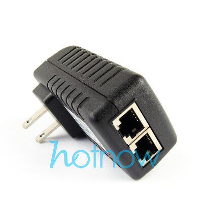 HMQC Black Power Over Ethernet Cable Kit Passive POE Injector Splitter Adapter