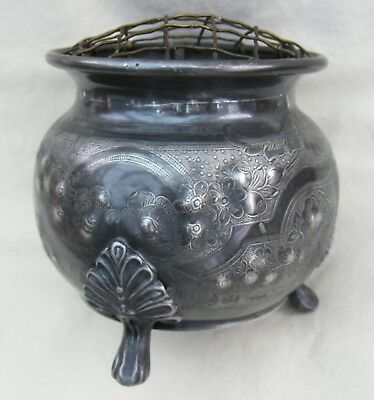 Silver plated old POSY BOWL - 3 legged - Circa 1930