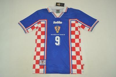 CROATIA AWAY RETRO SHIRT WORLD CUP 1998, SUKER, BOBAN, PROSINECK, Sizes S M L XL