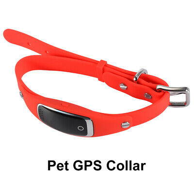 Dog Cat GPS Collar Locator Tracker Tracking Waterproof OLED Screen Red PS363