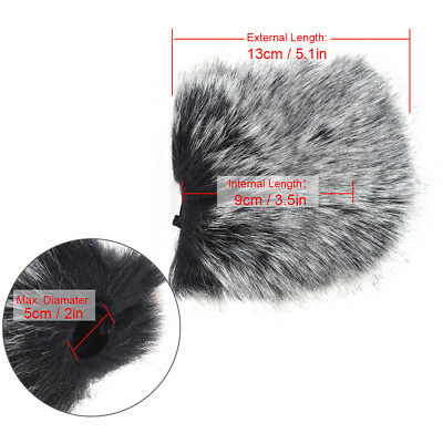 M Size Microphone Mic Furry Windscreen Windshield Cover Muff for SHENGGU NM T5H1