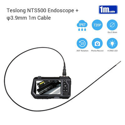 Teslong NTS500 3.9mm 5Inch 360°Rotation 6 LED Industrial Inspection Snake Camera