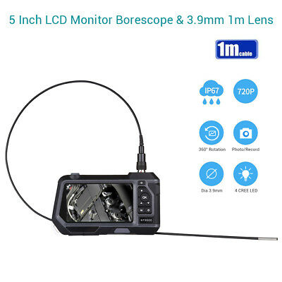 Teslong NTS500 Dia 3.9mm 5Inch 720P IP67 6LEDs Industrial Endoscope Snake Camera