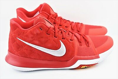 a5db611edbd98c Nike Kyrie 3 Mens Size 10.5 Basketball Shoes University Red 852395 601 Suede